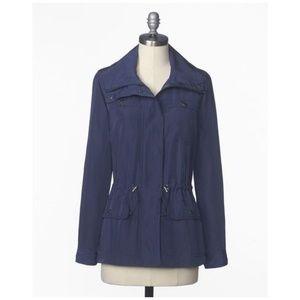 COLDWATER CREEK Navy Blue Feminine Anorak Jacket
